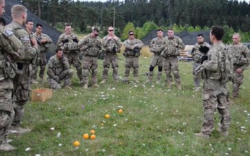4-319th AFAR Support Training With British Army During Wessex Strom