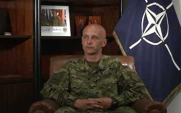 Command Sergeant Major Davor Petek From NATO's SHAPE