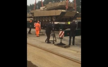 Rail-load Ops at Theater Logistics Support Center - Europe