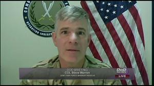 Army Col. Steven Warren - Pentagon Press Briefing