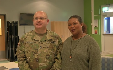 Sgt. 1st Class Timothy Bennett and Yolanda Bennett - Brussels Holiday Greeting