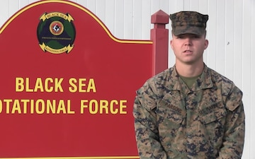 Happy Thanksgiving from Romania!: Lance Cpl. Brady Parsons gives a shout-out to Damariscotta, ME