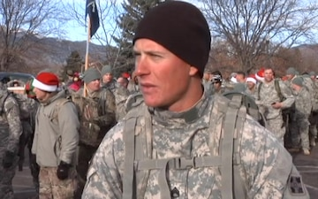 Staff Sgt. Romiti Talks about the Manchu Mile and Marien House March