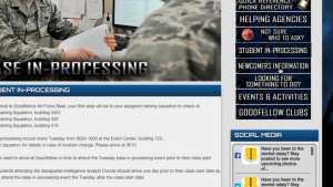 Goodfellow AFB Website Video