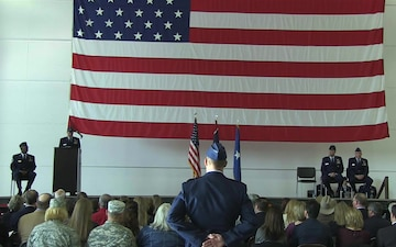 Brig. Gen. speaks at 153AW change of command