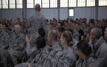 The 181st IW Hosted a Visit From the Command Chief of the ANG