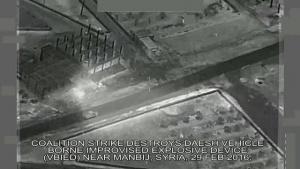 Feb. 29: Coalition Airstrike on Daesh VBIED Near Manbij