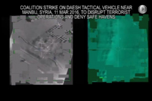 Mar. 11: Coalition strike on a Daesh tactical vehicle near Manbij