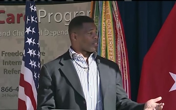 Herschel Walker Speaks at Army Suicide Prevention Event