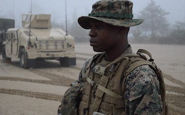 B-roll of Marine Sgt. Edet Umoren instructing Marines