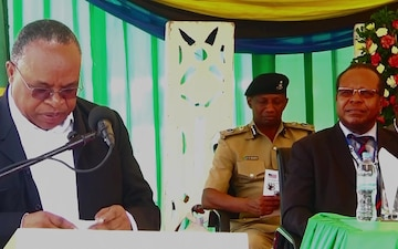 Remarks from Tanzania Min. of Tourism at Detector Canine Handover Ceremony, Dar Es Salaam