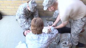 Washington Air National Guardsmen practice lifesaving techniques