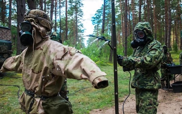 444th Chemical Company: Decon in the Forest