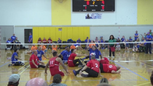 Team Air Force Sitting Volleyball