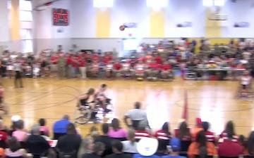 2016 Warrior Games Basketball Marines vs Army