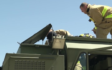 Firefighters Conduct Structure Fire Training