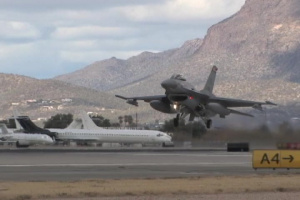 Arizona Air National Guard F-16s Landing