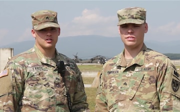 Sgt. Fariss and Sgt. Andresen, 4th of July Greeting