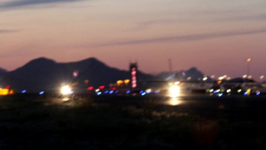 F-16s taxiing for night launch