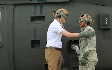 Secretary of the Army Fanning Visits JBLM Soldiers in Malaysia