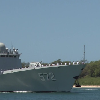 Chinese Navy Ship Hengshui (572) Arrives at Joint Base Pearl Harbor-Hickam During RIMPAC