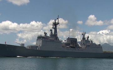 Republic of Korea Destroyer Kang Gam Chan (DDH 979) Departs Joint Base Pearl Harbor-Hickam Following the Conclusion of RIMPAC 2016.