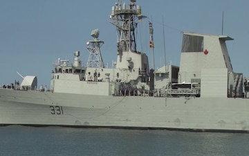 Royal Canadian Navy Halifax-Class Frigate Her Majesty's Canadian Ship Vancouver (FFH 331) Departs Joint Base Pearl Harbor-Hickam Following the Conclusion of RIMPAC 2016