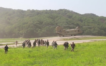 2-12 CAV CONDUCTS AIR ASSAULT LIVE FIRE TRAINING  /w Interview