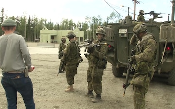 Iowa National Guard Soldiers Role Play as Civilians on the Battlefield at Arctic Anvil
