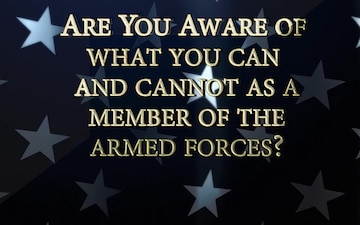 Election Year Guidance for Members of the Armed Forces
