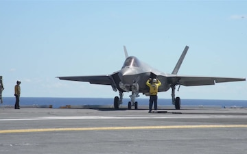 BROLL F-35C Aboard USS George Washington