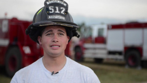 Firefighter talks about training