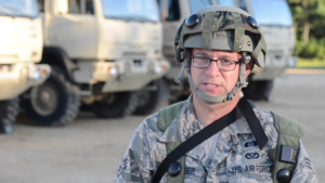 Airman trains with Army