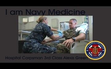 I am Navy Medicine - HM3 Green