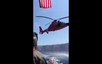 Coast Guard rescues 25-year-old man near Santa Cruz Island