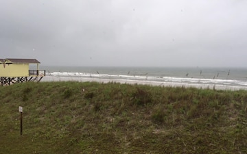 Onslow Beach as Tropical Storm Hermine approaches