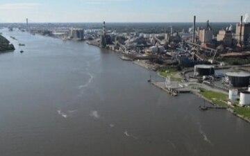 Coast Guard conducts damage assessment over Georgia coast