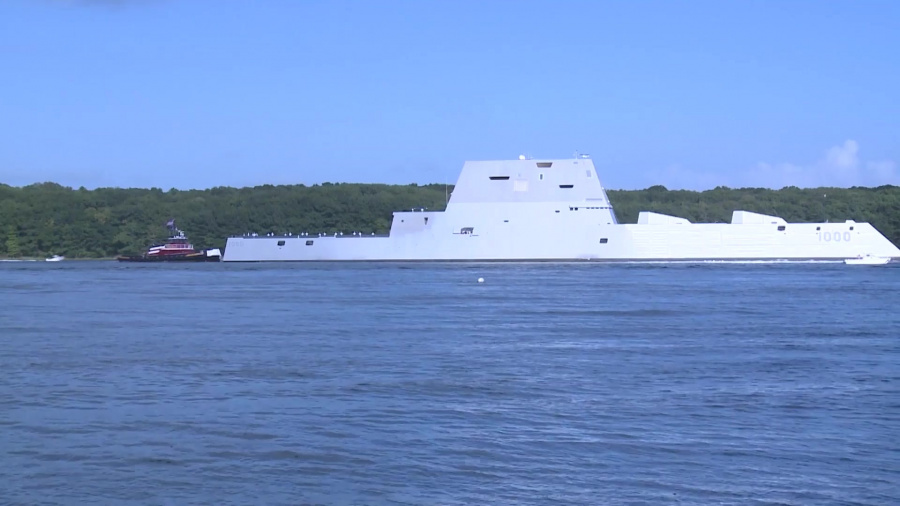 The future USS Zumwalt (DDG 1000) gets underway in Bath, Maine to join the fleet. The guided-missile destroyer is the lead ship in the Zumwalt class and the first ship to be named for Adm. Elmo Zumwalt.    After commissioning in Baltimore, Maryland, on Oct. 15, the ship will sail to its homeport in San Diego. Soon after arriving, DDG-1000 will enter a post-delivery industrial availability and mission systems activation period to ready this stealth destroyer for operational testing and its maiden deployment.