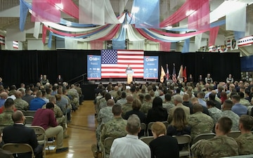 Former President George W. Bush Addresses Fort Carson Transition Summit