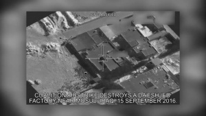 Sep 15: Coalition airstrike destroys a Da'esh IED factory near Mosul, Iraq