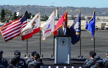 Defense Secretary Ash Carter Visits Carl Vinson (Speech)