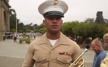 Marine Corps band performs with San Francisco schools