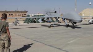A MQ-1C Grey Eagle begins surveillance operations
