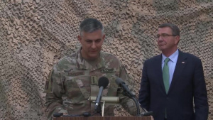 Carter Holds Press Availability in Baghdad