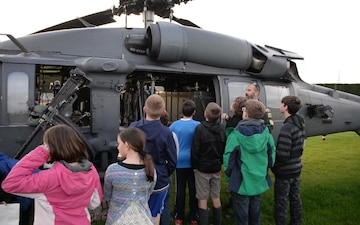 Boy Scouts Earn Merit Badge with Pave Hawk Visit