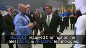 Secretary of Defense Visits Wright-Patterson AFB