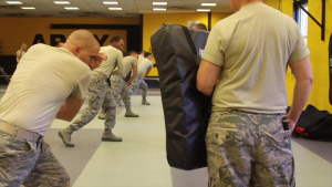 108th Security Forces Airmen Train with Baton