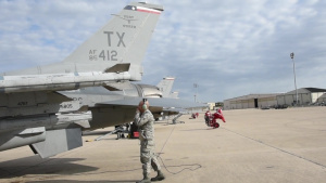 301st Fighter Wing marshall and take off