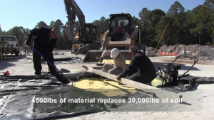 USACE engineers demonstrate the effectiveness of foam backfill technology