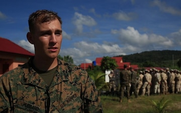 U.S. Marines and Cambodian Sailors conduct riot control training